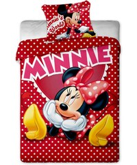 Jerry Fabrics Povlečení Disney - Minnie hearts 1x 140/200, 1x 90/70