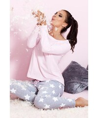 Dámské pyžamo Pigeon P-504/1 pink, růžová