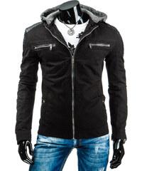 streetIN Pánská bunda s odepínací úpletovou kapucí - černá Velikost: 2XL