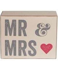 Dekorační kostka Mr & Mrs
