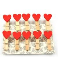 Dekorativní kolíčky Red Hearts
