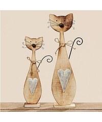 Dřevěná dekorační kočička Kitty