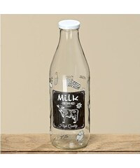 Skleněná láhev na mléko Fresh and hot 1l