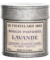 Vonná svíčka v plechu Levandule Le Chatelard