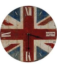 Nástěnné analogové hodiny Union Jack