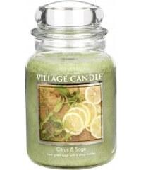 Vonná svíčka, Citrusy a šalvěj 26OZ Village Candle