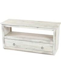 Dřevěný stolek pod televizi Calais Vintage White