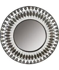 Nástěnné kovové zrcadlo Baroque Leaf, 70 cm