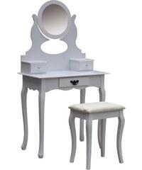 Toaletní stolek se stoličkou Creil, bílý