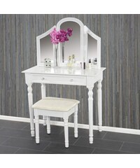 Toaletní stolek se stoličkou Croix, bílý