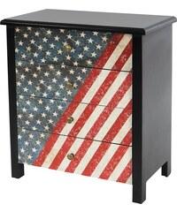 Komoda se čtyřmi zásuvkami USA Flag