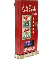 Designová skříňka na klíče ve tvaru nápojového automatu