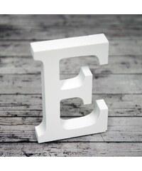 Dřevěné písmeno E, 8cm