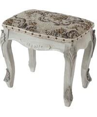 Barokní stolička, sedák Carinaro Antik White