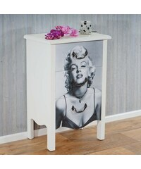 Komoda s třemi zásuvkami Marilyn Monroe