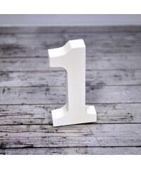 Dřevěná číslice 1, 8cm