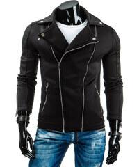 streetIN Pánská bunda motorkářského vzhledu - černá Velikost: L