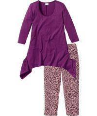 bpc selection Pyjama corsaire violet manches 3/4 lingerie - bonprix