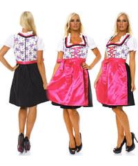 Lesara 3-teiliges Dirndl Blümchen - Pink - 38