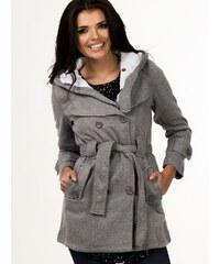 Depare Dámský kabátek s kapucí šedý