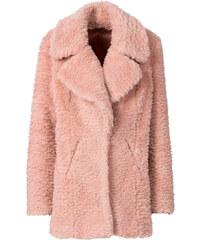 RAINBOW Manteau en synthétique imitation fourrure rose manches longues femme - bonprix