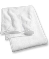 Lot 2 serviettes invité 30x50 cm uni blanc - Collection Esprit