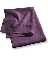 Lot 2 serviettes invité 30x50 cm uni aubergine - Collection Esprit