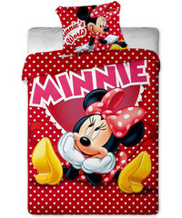 Jerry fabrics Povlečení Minnie Hearts bavlna 140/200, 70/90 cm