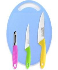 Sada nožů s prkénkem 4 ks FUN2COOK CS SOLINGEN CS-035198
