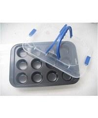 Pečící plech na 12 muffin s přenosným plastovým krytem KAISERHOFF KH-8292
