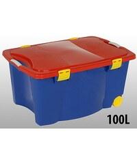 Úložný box pojízdný 100 l plastový 45x55x80 cm ProGarden KO-Y54216000