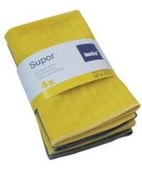 Utěrka SUPOR mikrovlákno 4ks žlutá, šedá KELA KL-11643