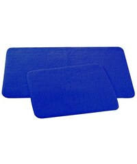 Koupelnová předložka, 2 ks, 50x80 cm a 50x40 cm, modrá TESTRUT TE-102559