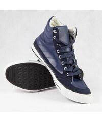 Lesara High-Top-Sneaker in Leder-Optik - 44