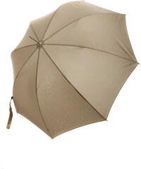 TopMode Stylový vystřelovací deštník s kamínky tmavě hnědá
