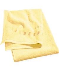 Serviette de douche 75x140 cm uni jaune - Collection Esprit