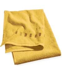 Serviette de douche 75x140 cm uni moutarde - Collection Esprit