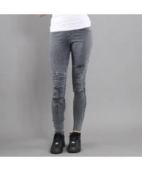 Urban Classics Ladies Denim Jersey Leggings tmavě šedé