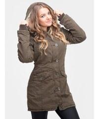 Urban Classics Ladies Garment Washed Long Parka Olive TB1088