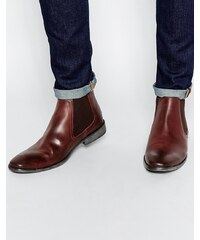 Base London - Bottines Chelsea en cuir - Marron