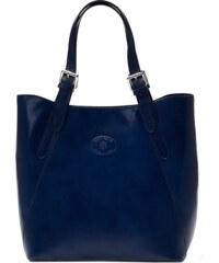 Kožená kabelka Vera Pelle 0145 modrá