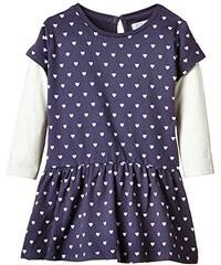 Coconella Mädchen Kleid im Layer-Look mit Herzchen all-over-print