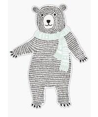 Bloomingville Nástěnná samolepka Mint Bear