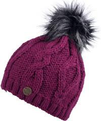 CAPU Zimní čepice s bambulí Purple 343-C
