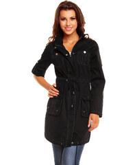 Luxusní lehký kabátek My Collection - černý