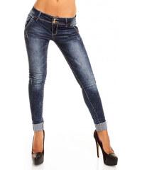 Dámské džínové kalhoty Laulia - tmavě modré