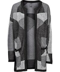 RAINBOW Strick-Cardigan langarm in grau für Damen von bonprix