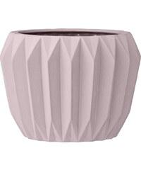 Bloomingville Porcelánový květník Blush Fluted