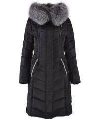 Snowimage Dámský péřový kabát s kožešinou