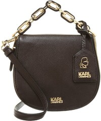 KARL LAGERFELD GRAINY Handtasche dark brown